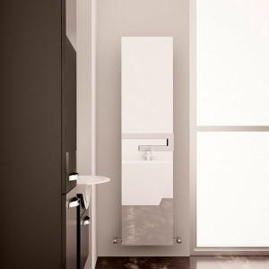 """370mm (w) x 1800mm (h) Carisa """"Elvino Bath Mirror"""" Aluminum Designer Mirror Radiator"""