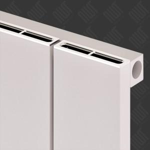 "Carisa ""Nemo"" White Aluminium Flat Panel Horizontal Designer Radiators (5 Sizes)"