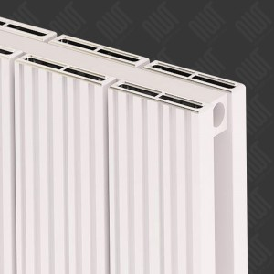 "Carisa ""Monza Double"" White Aluminium Designer Horizontal Radiators (5 Sizes)"