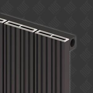 """Carisa """"Monza"""" Black Aluminium Designer Horizontal Radiators (5 Sizes)"""