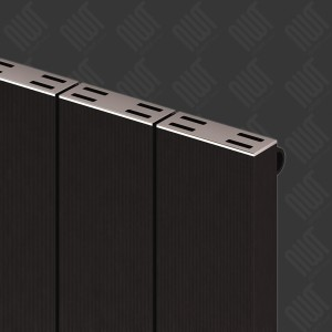 "Carisa ""Elvino"" Black Aluminium Flat Panel Horizontal Designer Radiators (3 Sizes)"