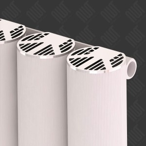 "Carisa ""Otto"" White Aluminium Designer Horizontal Radiators (2 Sizes)"