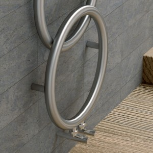 "Carisa ""Halo"" Brushed OR Polished Stainless Steel Designer Towel Rail Radiator (2 Sizes)"