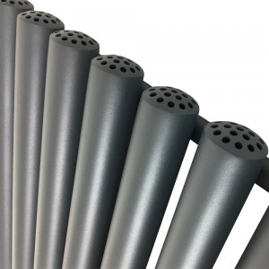 472mm (w) x 1800mm (h) Circolo Anthracite Vertical Radiator (6 Tubes)
