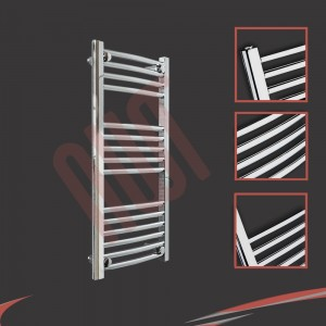 "400mm (w) x 800mm (h) ""Curved Chrome"" Towel Rail"