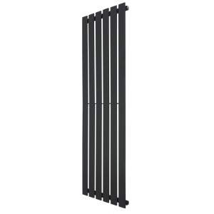 440mm x 1850mm Corwen Black Vertical Radiator