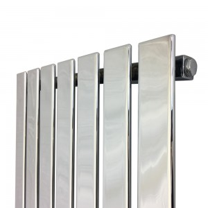 "516mm (w) x 1250mm (h) ""Corwen"" Chrome Flat Panel Vertical Radiator (7 Sections)"