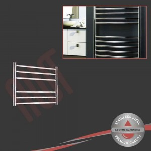 600mm (w) x 430mm (h) Polished Stainless Steel Towel Rail