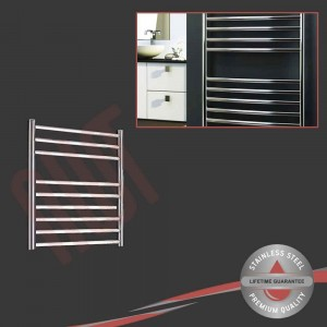 600mm (w) x 600mm (h) Polished Stainless Steel Towel Rail