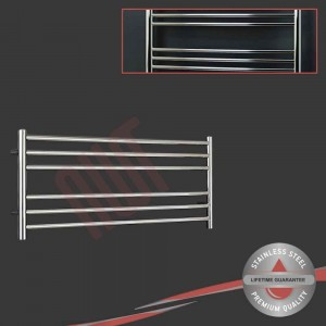 1200mm (w) x 400mm (h) Polished Stainless Steel Towel Rail