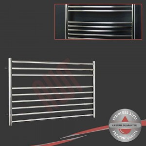 "1200mm (w) x 600mm (h) Polished Straight ""Stainless Steel"" Towel Rail"