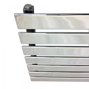 "1850mm (w) x 516mm (h) ""Corwen"" Chrome Flat Panel Horizontal Radiator (7 Sections)"