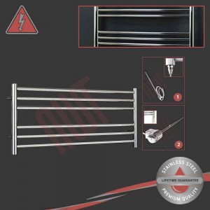 "1200mm (w) x 400mm (h) Electric Polished ""Stainless Steel"" Towel Rail (Single Heat or Thermostatic Option)"
