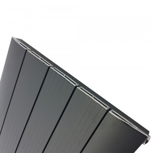 "470mm (w) x 1800mm (h) ""Cariad"" Single Panel Anthracite Vertical Aluminium Radiator (5 Extrusions)"