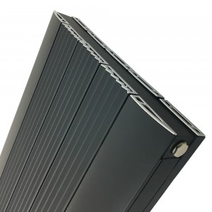 "470mm (w) x 1800mm (h) ""Cariad"" Double Panel Anthracite Vertical Aluminium Radiator (10 Extrusions)"
