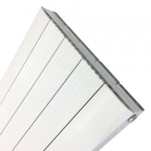 470mm (w) x 1800mm (h) Cariad White (Aluminium) Single Panel - Close up