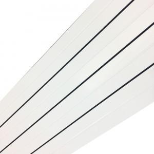 318mm x 1800mm Vesuvius White