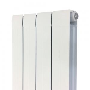 """318mm (w) x 1800mm (h) """"Vesuvius"""" White Vertical Aluminium Radiator (4 Extrusions)"""
