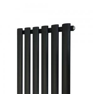 420mm (w) x 1800mm (h) Brecon Black Vertical Radiator