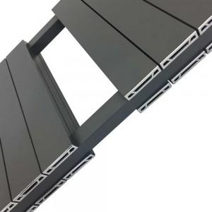 "500mm (w) x 1500mm (h) ""Flow"" Anthracite Double Aluminium Towel Rail (26 Extrusions)"