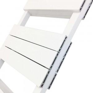"500mm (w) x 1500mm (h) ""Flow"" White Double Aluminium Towel Rail (26 Extrusions)"