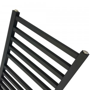 500mm x 1165mm Denbigh Black Towel Rail - Close up