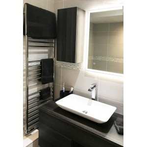 600mm (w) x 1600mm (h) Polished Stainless Steel Towel Rail