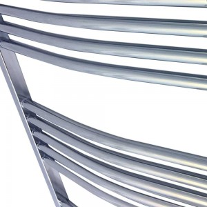 500mm  x 1200mm Curved Chrome Towel Rail