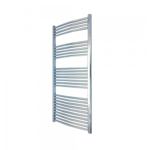 500mm  x 1400mm Curved Chrome Towel Rail
