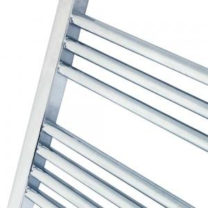 600mm  x 800mm Straight Chrome Towel Rail