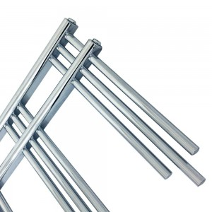 "500mm (w) x 1200mm (h) ""Beaumaris"" Chrome Designer Towel Rail"