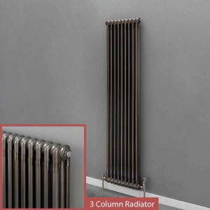 """Korona"" 3 Column Bare Metal Lacquered Vertical Radiators (4 Sizes)"