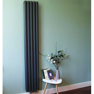 "Ultraheat ""Sofi"" Anthracite Single & Double Oval Tube Vertical Radiators (13 Sizes)"