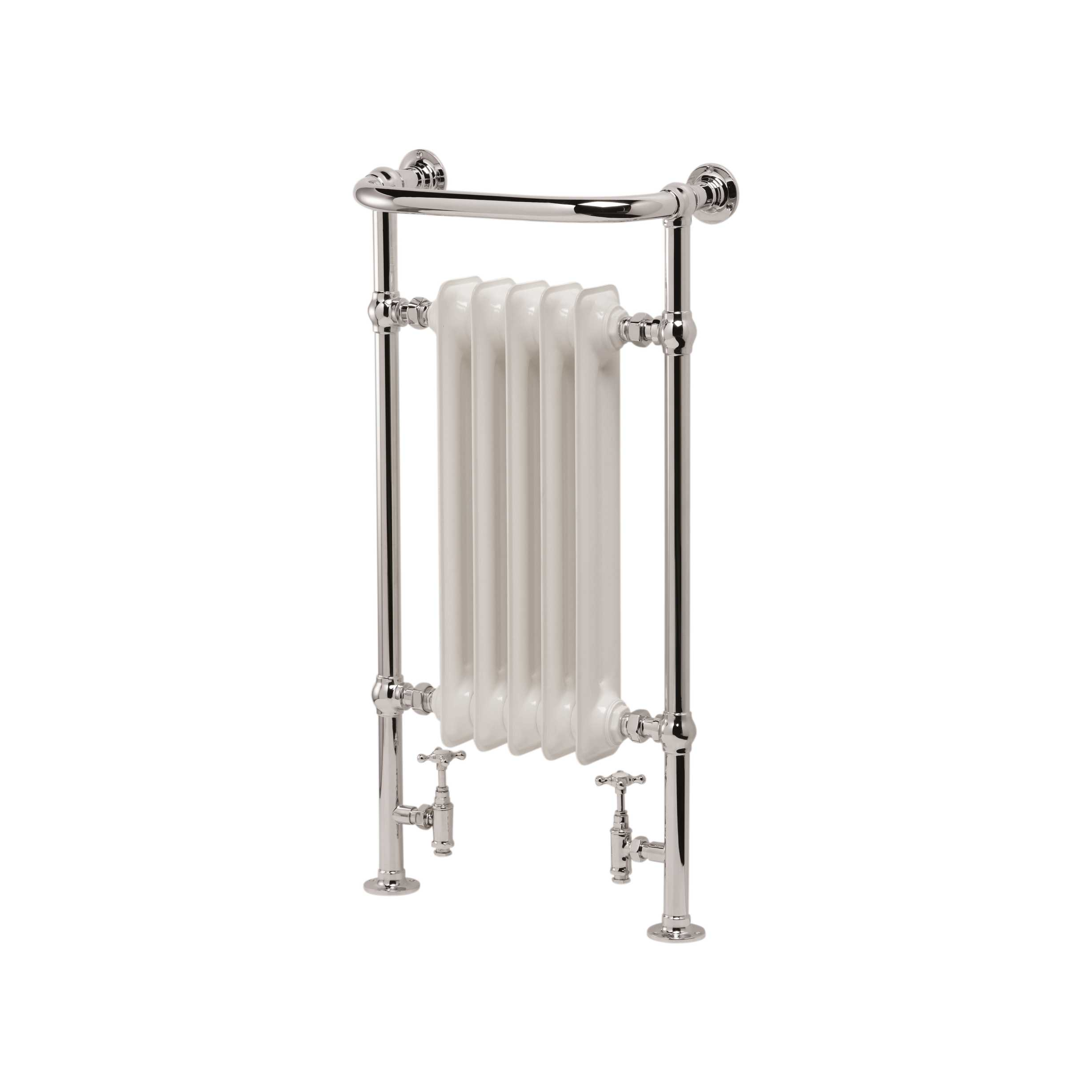 "ULTRAHEAT /""Buckingham/"" Traditional Floor Standing Heated Towel Rail 3 Sizes"