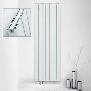 "Ultraheat ""Virtu"" White Vertical Aluminium Designer Radiators (13 Sizes)"