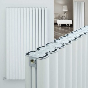 "Ultraheat ""Visage"" White Vertical Aluminium Designer Radiators (16 Sizes)"