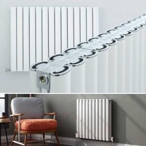 "Ultraheat ""Visage"" White Horizontal Aluminium Designer Radiators (22 Sizes)"