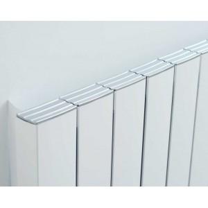 "Ultraheat ""Smyrna"" White Vertical Aluminium Designer Radiators (12 Sizes)"