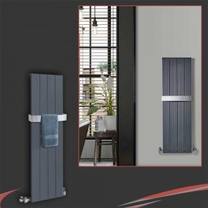"375mm (w) x 1200mm (h) ""Newborough"" Anthracite  Aluminium Radiator"