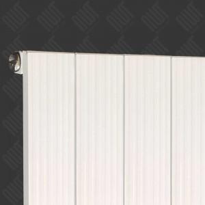 "375mm (w) x 1200mm (h) ""Newborough"" White Vertical Single Panel Aluminium Radiator (4 Extrusions)"