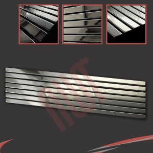 1850mm x 516mm Corwen Chrome Horizontal Radiator