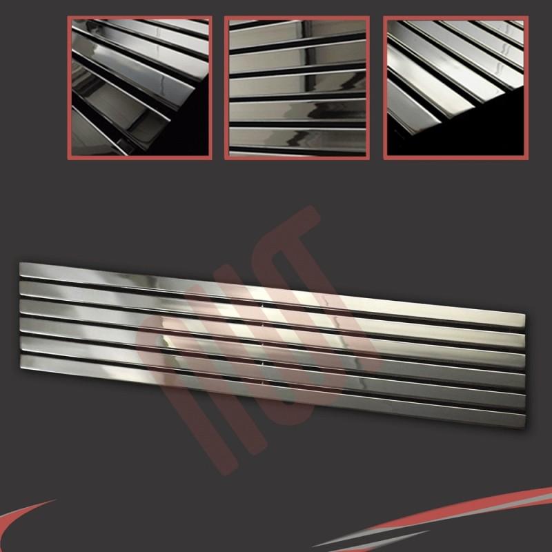 1850mm x 440mm Corwen Chrome Horizontal Radiator