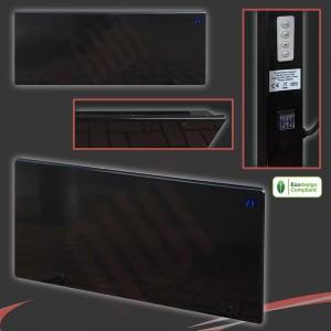 "2000w ""Nova Live R"" Silver Electric Panel Heater - 940mm(w) x 400mm(h)"