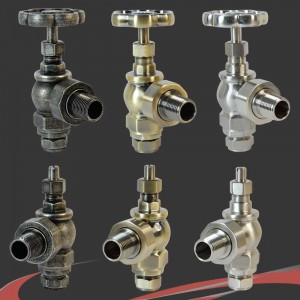 Daisy Wheel Manual Radiator Valves 3 Finishes