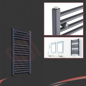 "300mm (w) x 800mm (h) ""Straight Anthracite"" Designer Towel Rail"