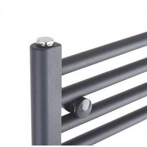 "500mm (w) x 800mm (h) ""Straight Anthracite"" Designer Towel Rail"
