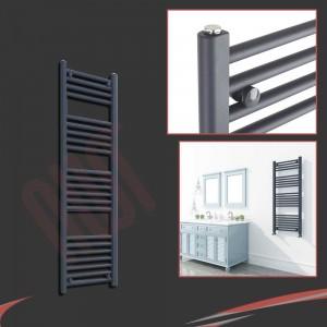 "300mm (w) x 1200mm (h) ""Straight Anthracite"" Designer Towel Rail"
