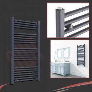 "600mm (w) x 1200mm (h) ""Straight Anthracite"" Designer Towel Rail"