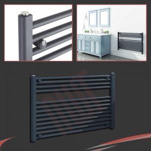 "900mm (w) x 600mm (h) ""Straight Anthracite"" Designer Towel Rail"
