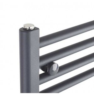 "300mm (w) x 1200mm (h) Electric ""Anthracite"" Towel Rail (Single Heat or Thermostatic Option)"